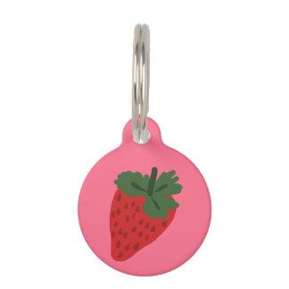 ErdbeerErkennungsmarke Tiermarke Mit Namen