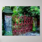 Erdbeerfeld-Tore, Liverpool, Großbritannien Poster