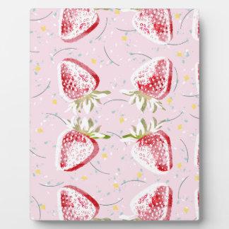 Erdbeerfiesta-Muster Fotoplatte