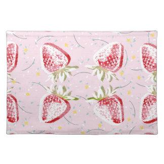 Erdbeerfiesta-Muster Stofftischset