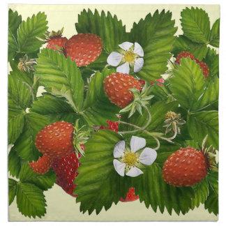 Erdbeerflecken Stoffserviette