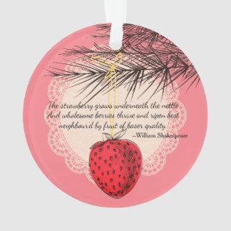 Erdbeerfrucht kulinarische Weihnachtsverzierung Ornament