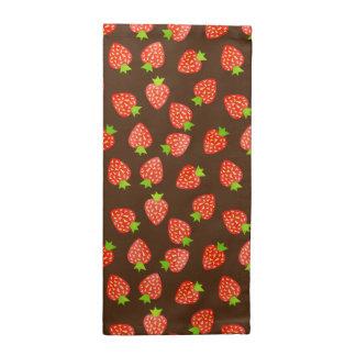 Erdbeerfrucht-Muster hübsches Brown oder Stoffserviette
