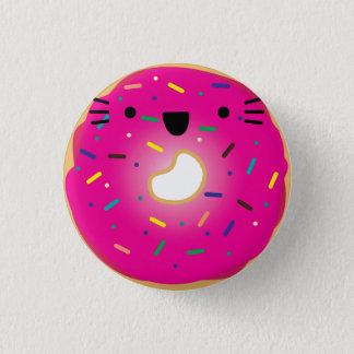 Erdbeerkatzen-Krapfen-Knopf ausgedehnt Runder Button 2,5 Cm