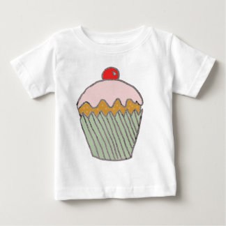 Erdbeerkleiner kuchen baby t-shirt