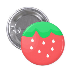 Erdbeerknopf Runder Button 2,5 Cm