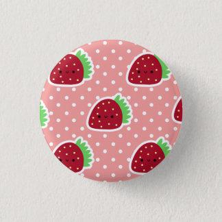 Erdbeerknopf Runder Button 3,2 Cm