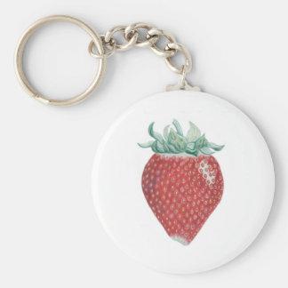 Erdbeerkunst-Schlüsselkette Standard Runder Schlüsselanhänger