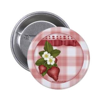 Erdbeerland-Knopf Runder Button 5,1 Cm