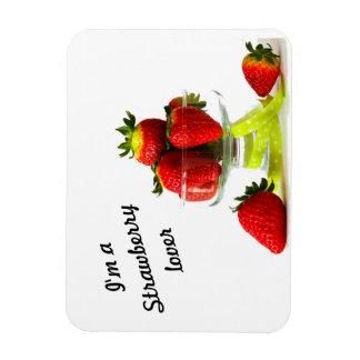 Erdbeerliebhaber-Fotomagnet Magnet