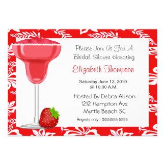 Erdbeermargarita-Brautparty-Einladung