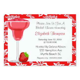 Erdbeermargarita-Brautparty-Einladung 12,7 X 17,8 Cm Einladungskarte
