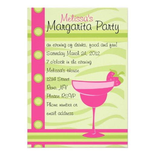 Erdbeermargarita-Party Personalisierte Einladungen