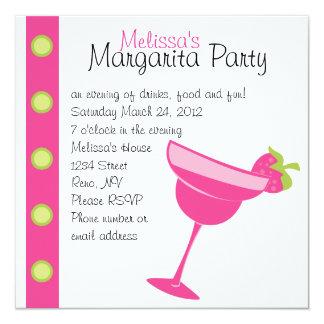 Erdbeermargarita-Party Individuelle Einladungskarte