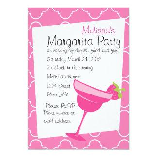 Erdbeermargarita-Party Personalisierte Einladungskarten