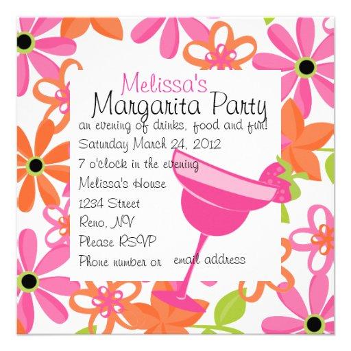 Erdbeermargarita-Party Personalisierte Einladung