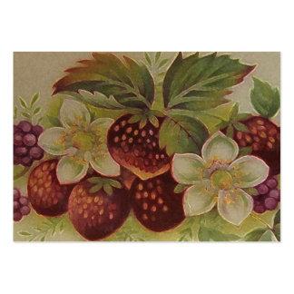 Erdbeermarmelade Mini-Visitenkarten