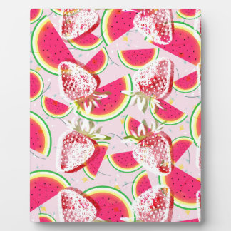 Erdbeermelone-Fiesta-Muster Fotoplatte