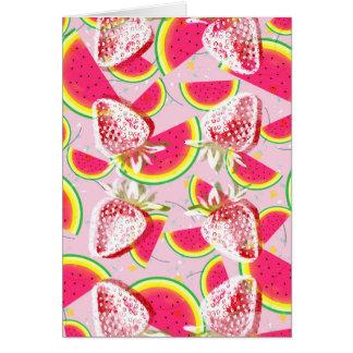 Erdbeermelone-Fiesta-Muster Karte