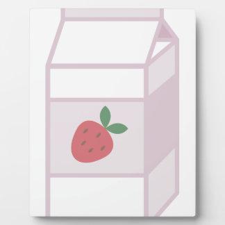 Erdbeermilch Fotoplatte