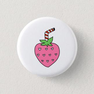 Erdbeermilch KNOPF, niedlicher KNOPF Runder Button 3,2 Cm