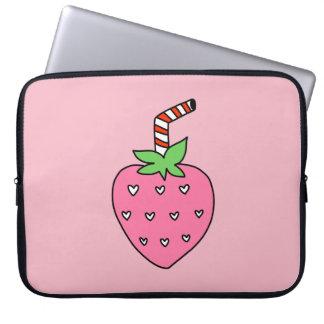 Erdbeermilch LAPTOP-HÜLSE, niedliche LAPTOP-HÜLSE Laptop Sleeve