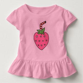 Erdbeermilch SCHERZT T - SHIRT, niedlichen T - Kleinkind T-shirt