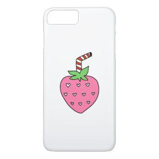 Erdbeermilch TELEFON-KASTEN, niedlicher iPhone 8 Plus/7 Plus Hülle