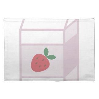 Erdbeermilch Tischset