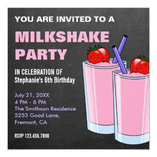 Erdbeermilchshake-Tafel-Geburtstags-Party Karte