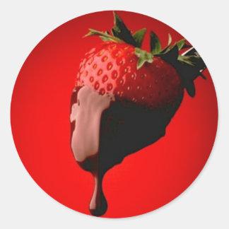 Erdbeermonat Runder Aufkleber