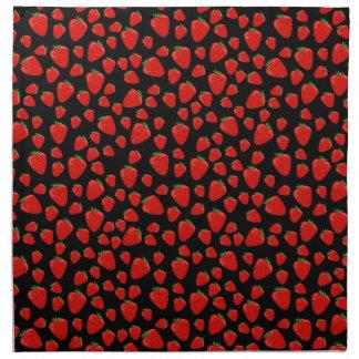 Erdbeermuster Stoffserviette