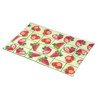 Erdbeermuster Tischset