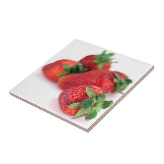 Erdbeernahe hohe Foto-Fliesen Kleine Quadratische Fliese