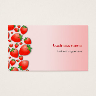 Erdbeerneues Rosa Visitenkarte
