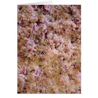 Erdbeerrhabarber-Torte Karte