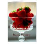 Erdbeerschüssel-Geburtstags-Karte