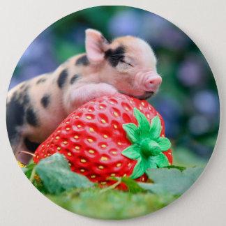 Erdbeerschwein Runder Button 15,3 Cm