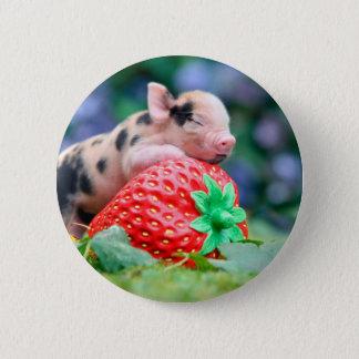 Erdbeerschwein Runder Button 5,7 Cm