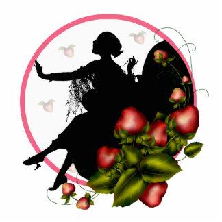 ErdbeerSilhouette-Ausschnitt-Skulptur Freistehende Fotoskulptur