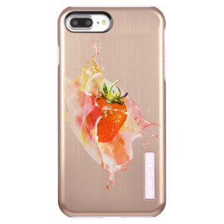 Erdbeerspritzen! Aquarell Incipio DualPro Shine iPhone 8 Plus/7 Plus Hülle