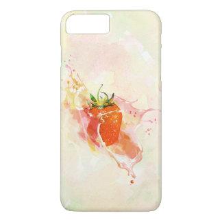 Erdbeerspritzen! Aquarell iPhone 8 Plus/7 Plus Hülle