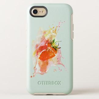 Erdbeerspritzen! Aquarell OtterBox Symmetry iPhone 8/7 Hülle