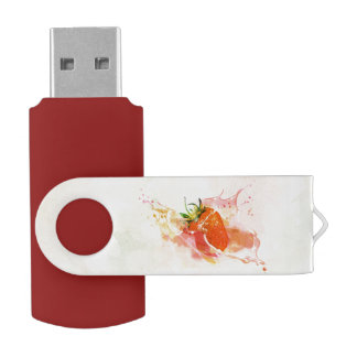 Erdbeerspritzen! Aquarell USB Stick