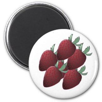 Erdbeerverrückter runder Magnet Runder Magnet 5,1 Cm