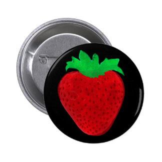 ErdbeerVintager Blick Runder Button 5,7 Cm