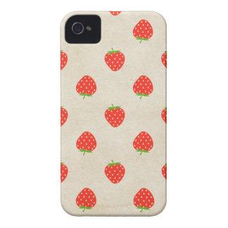 ErdbeerVintager Girly rustikaler Erdbeerdruck iPhone 4 Hülle