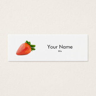 ErdbeerVisitenkarte Mini Visitenkarte