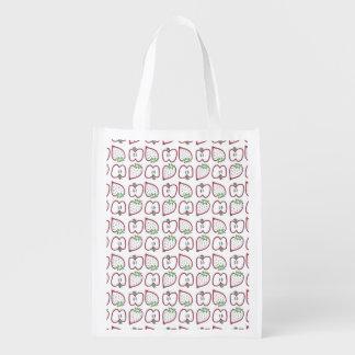 """Erdbeerwiederverwendbare Tasche der Apfel-""""n"""" Einkaufstaschen"""