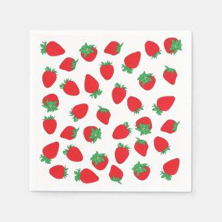 Erdbeerwurf Papierserviette